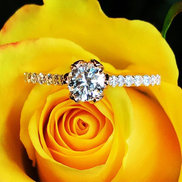This pretty rose gold engagement ring just got shipped for a special proposal.jpg