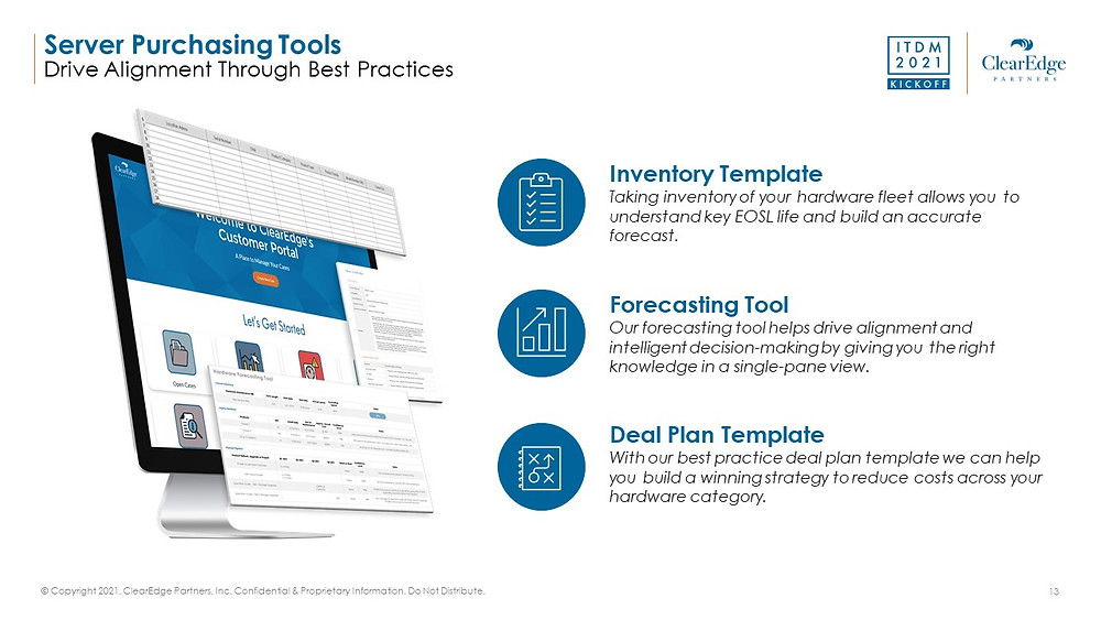3 best server purchasing tools to drive alignment - inventory template, forecasting tool, deal plan template
