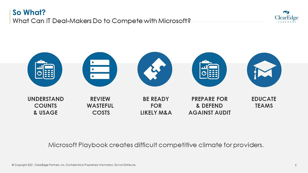 what can it deal makers do to compete with microsoft - understand, review, prepare, educate