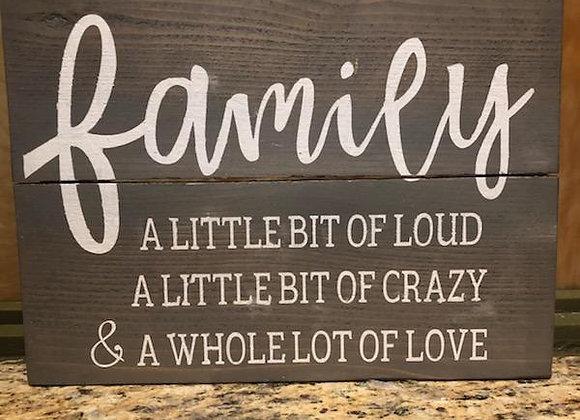 Family, little bit & lot of love