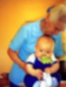 ויולה פריימן עם תינוק