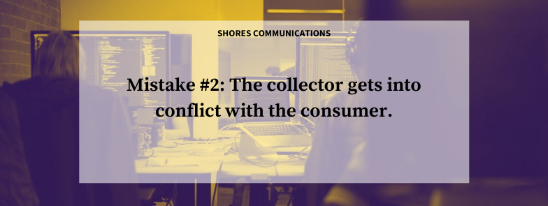 conflict with a consumer in debt collection