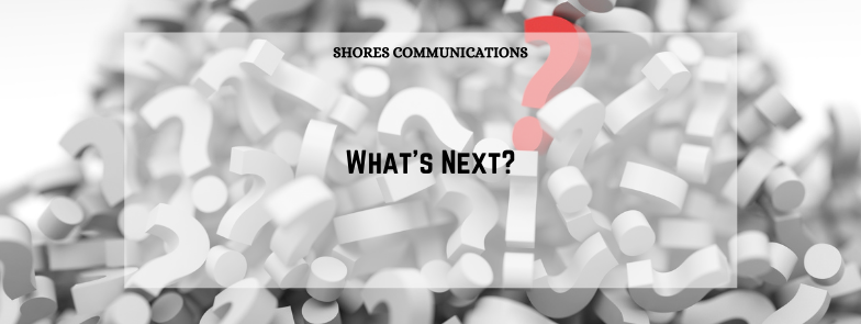"""Pile of question marks with overlay text that says, """"What's next?"""""""