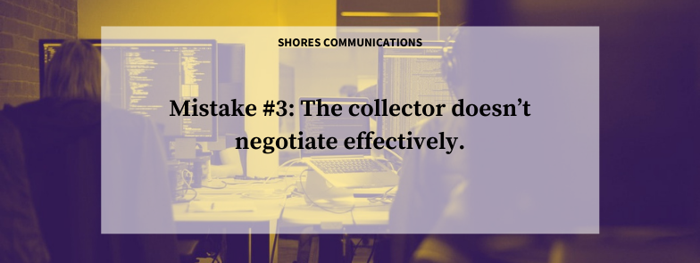 how to negotiate in collections