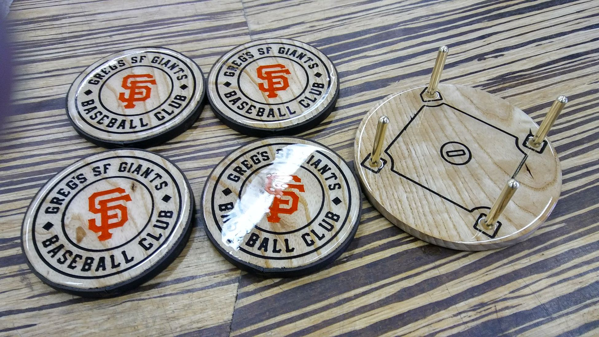 SF Giants coasters