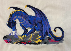 embroidery dragon