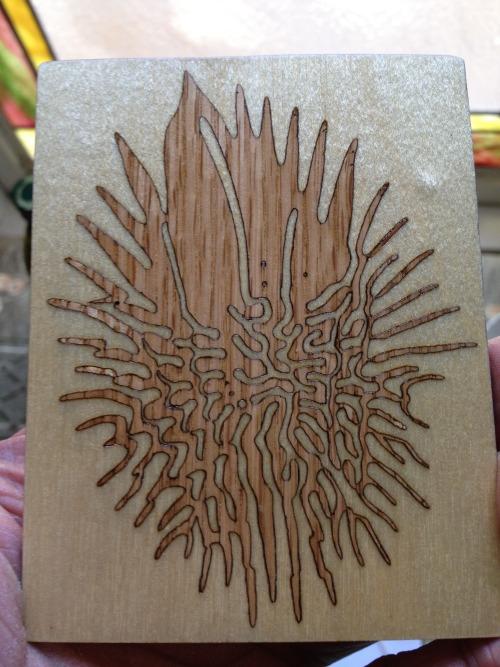 emergence Oak wood inlay