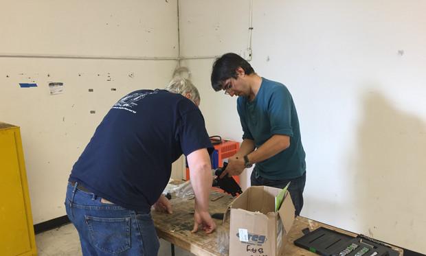 Assembling the SawStop