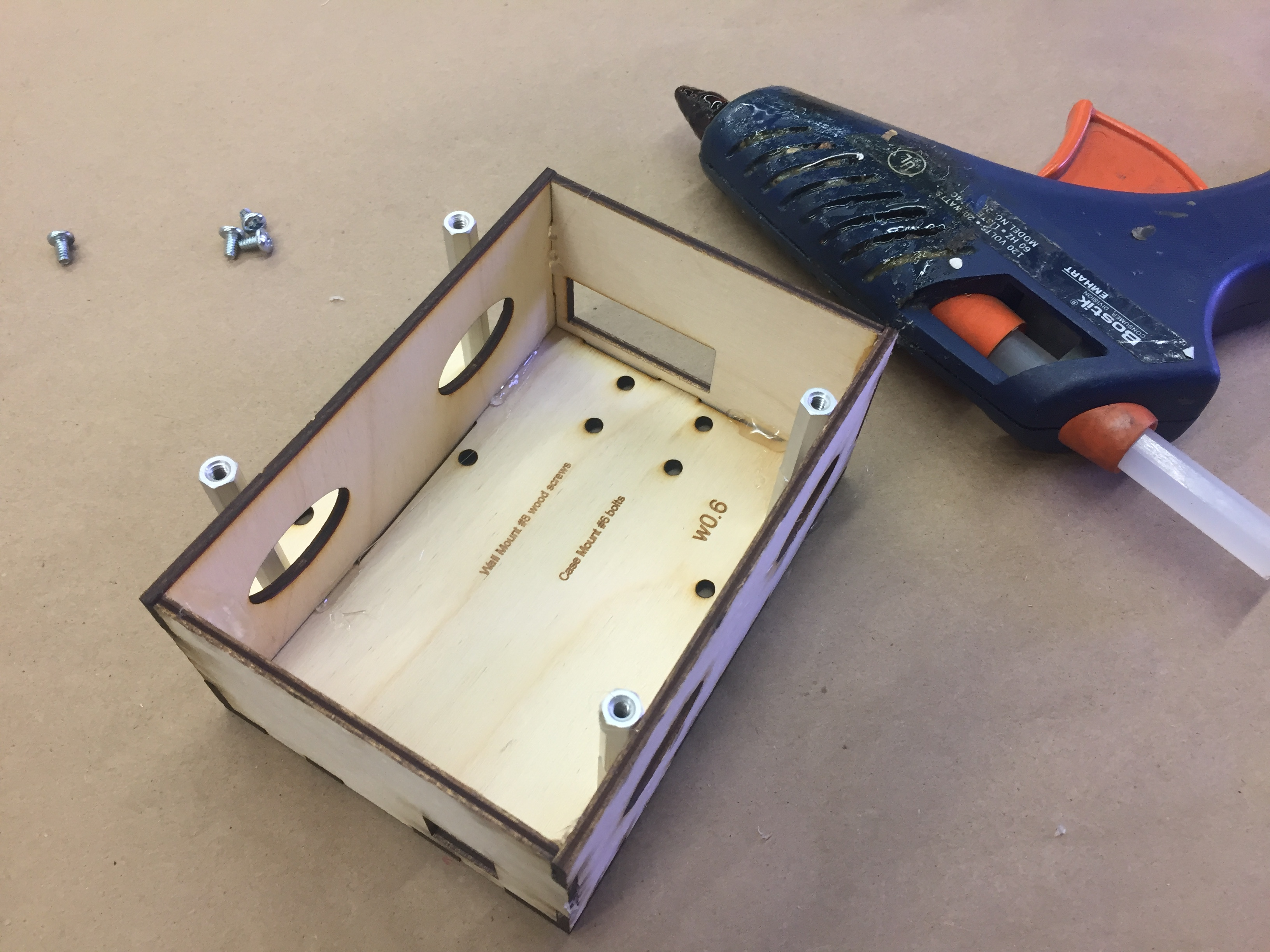 Wood box assembly