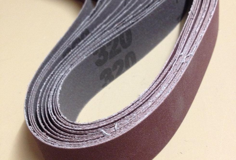 Aluminium Oxide abrasive belt - 25mm x 760mm