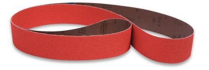 """Ceramic abrasive belt - to suit Farrier 10"""" (254mm) Baldor Expander Wheel"""