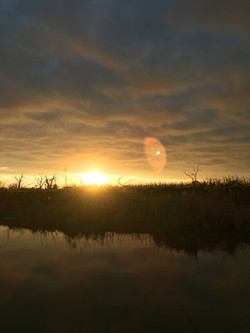 levee sunset lower Dularge