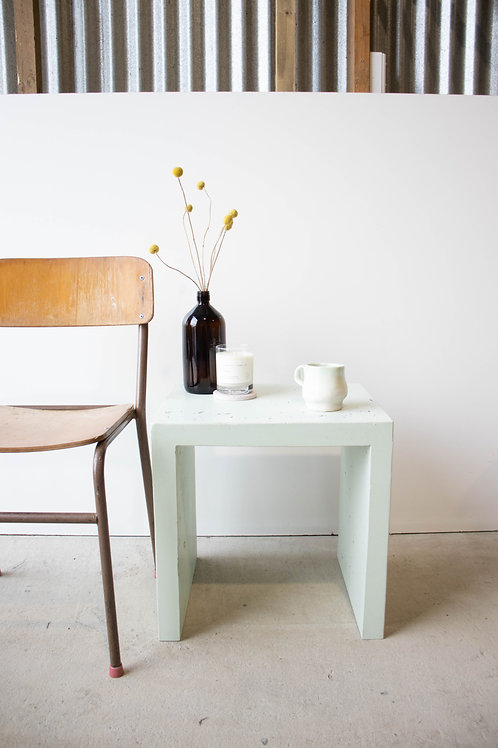 MINT - Small C Concrete Side Table - SECOND