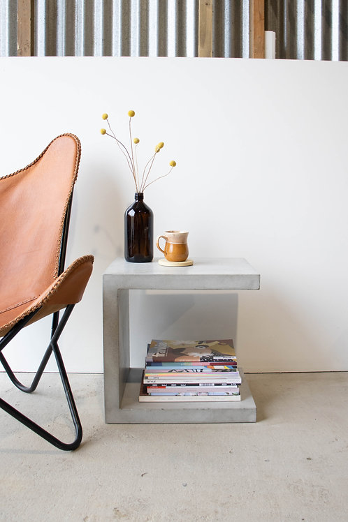 Small C Concrete Side Table