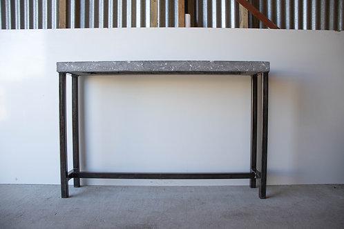 Hand Pressed/Jet Black & Pearl Hallway Table - SECOND
