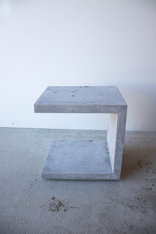 Hand Pressed - Small C Concrete Side Table - SECOND
