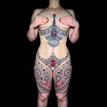 Full body tattoo Coen Mitchell Tattoo Gold Takapuna Tattoo Studio Auckland New Zealand