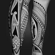 Leg tattoo Coen Mitchell Tattoo Gold Takapuna Tattoo Studio Auckland New Zealand