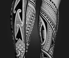 Leg tattoo Coen Mitchell Tattoo Gold Takapuna Tattoo Studio Auckland New Zealand