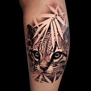 Coen Mitchell Tattoo Gold Takapuna Tattoo Studio Auckland New Zealand Realism Ocelot