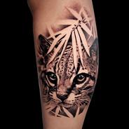 Coen Mitchell Tattoo Gold Takapuna Tattoo Studio Auckland New Zealand Realism Ocelot