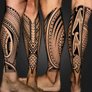 Leg wrap tattoo Coen Mitchell Tattoo Gold Takapuna Tattoo Studio Auckland New Zealand