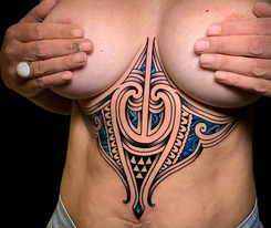Maori Underboob tattoo Coen Mitchell Tattoo Gold Takapuna Tattoo Studio Auckland New Zealand