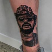 Tattoo Gold Portrait