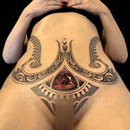 Coen Mitchell Tattoo Gold Gem