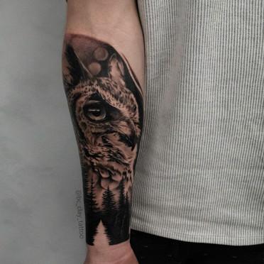 Tattoo Gold Owl