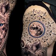 Cayote moon gem tattoo Coen Mitchell Tattoo Gold Takapuna Tattoo Studio Auckland New Zealand