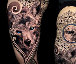 Cayote moon gem tattoo Coen Mitchell Tattoo Gold Takapuna Tattoo Studio Auckland New Zealand