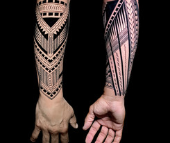 polynesian arm Coen Mitchell Tattoo Gold Takapuna Tattoo Studio Auckland New Zealand
