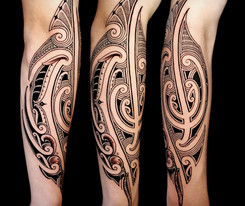 maori forearm piece Coen Mitchell Tattoo Gold Takapuna Tattoo Studio Auckland New Zealand