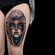 Coen Mitchell Tattoo Gold Takapuna Tattoo Studio Auckland New Zealand Portrait tattoo