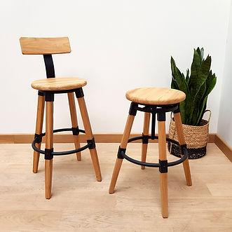 Assises en bois et métal