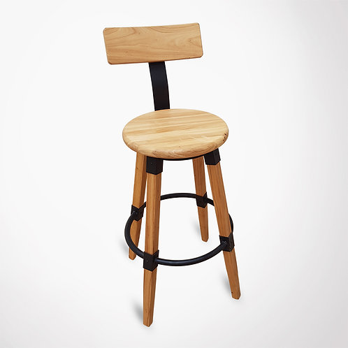 Chaise de bar en bois et métal