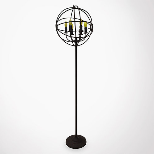 Lampadaire globe métal