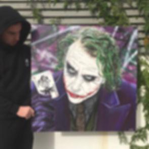 Still the best Joker._._80x80cm acrylics