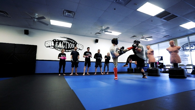 spar in mixed martial arts classes