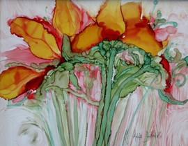 Floral Fun alk ink on bd 8.10
