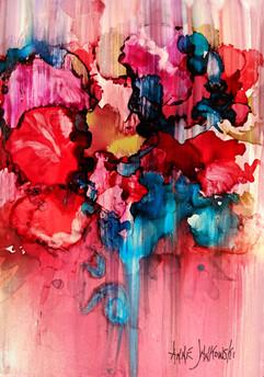 Summer Bouquet alk ink bd 5.7 sold