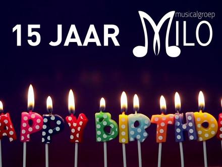 Musicalgroep MILO viert 15de verjaardag in december 2022.
