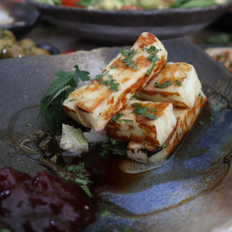 Grilled Halloumi with Jam