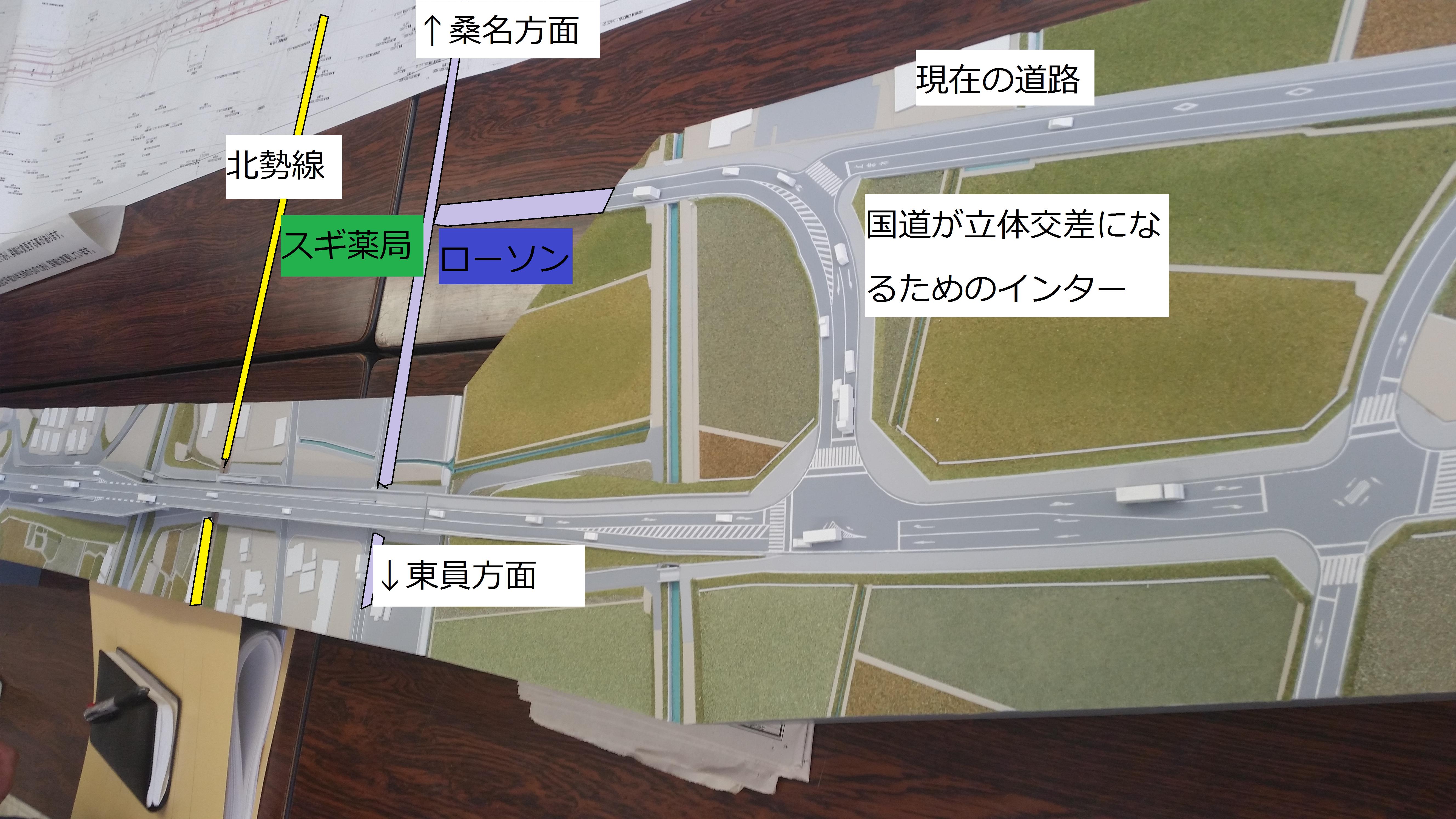 桑部橋完成模型
