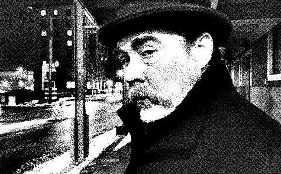 black and white print of Karl Huber