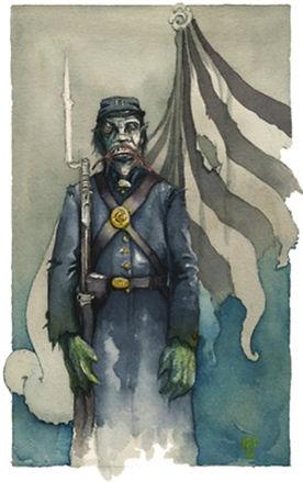 Pvt.AsaGillman, Innsmouth  watercolor