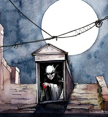 NS Nosferatu watercolor