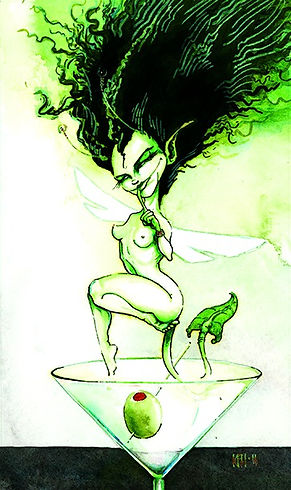 the Green Fairy  watecolor and Pen&ink