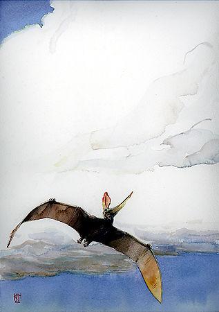 Pteranodon  watercolor